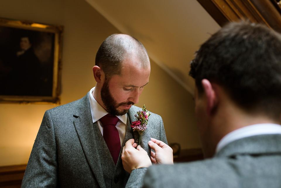 groom's preparations