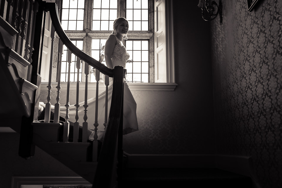 Waterford Castle Wedding stairs