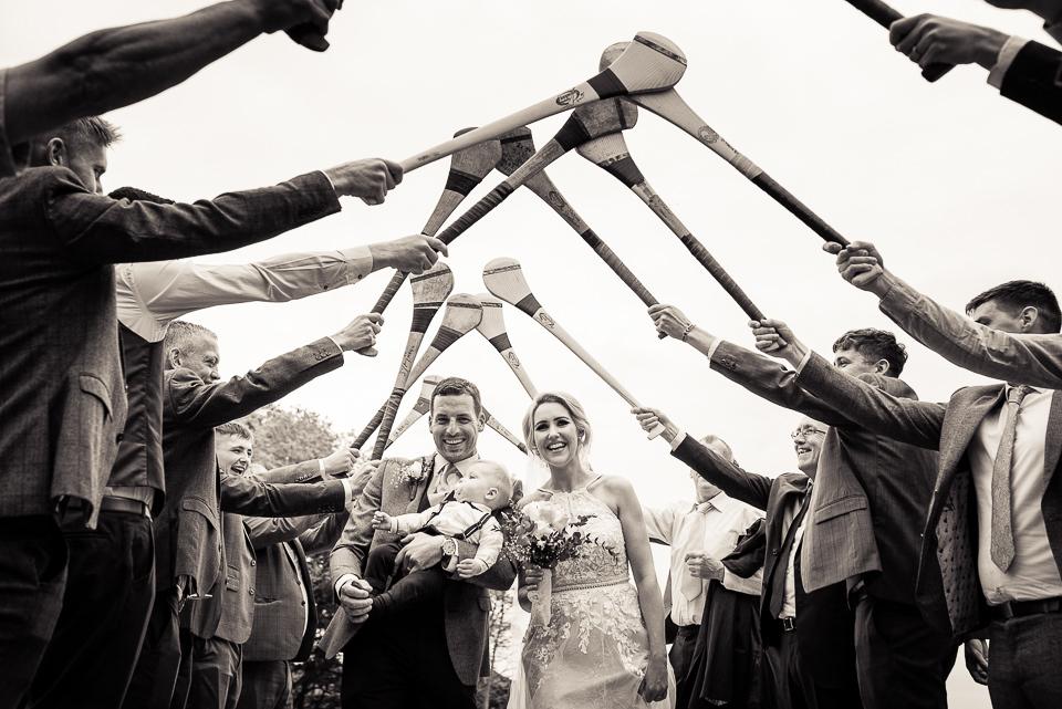 Bride and groom Hurling team